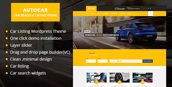 Car Dealer WordPress Theme - Auto Car | ListingThemes