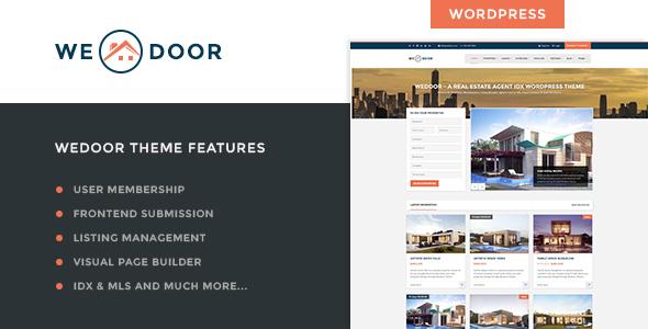 Best Real Estate User Membership IDX WordPress Theme | Wedoor